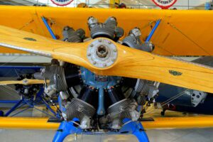 Continental R-670-5 radial engine, 220 hp - Continental Motors Corp'n Aircraft Engine - Boeing PT-17 Stearman - Collings Foundation - Stow / Hudson, Massachusetts, USA.