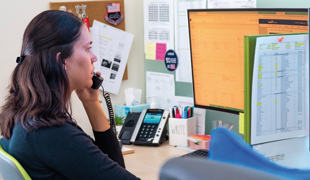 customer service specialist on phone