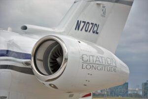 Cessna 700 Citation Longitude N707CL at Air Show which held at Istanbul Ataturk Airport