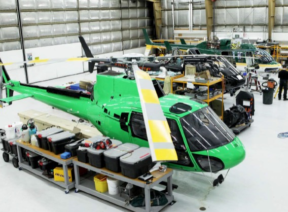 Pathfinder Aviation Hangar with Helicopters and Equipment