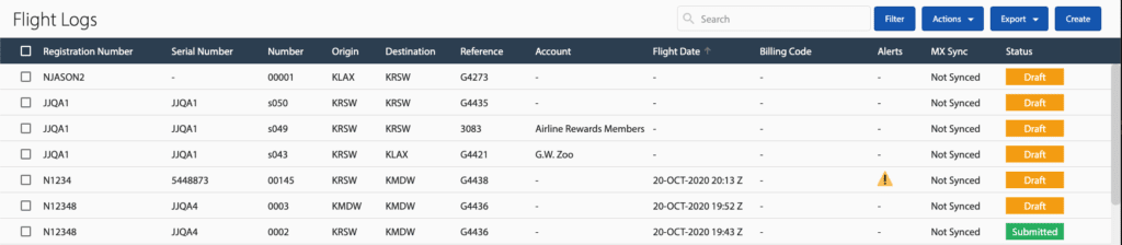 Operations Updates to Flight Logs Workflow Enhancements and Sorting Improvements